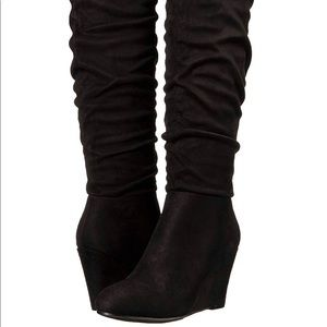 Chinese Laundry Uma Over the Knee Suede Boots